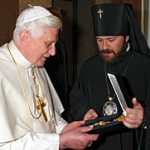 Pope Benedict and Met. Hilarion